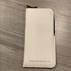 Brand new! Quay Australia white leather pouch